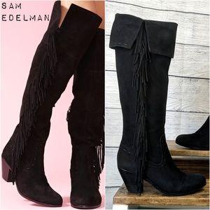 Sam Edelman Louella Over-the-Knee Fringe boots